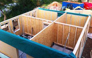Holzhaus aufstellen