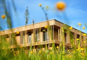 Holzhaus auf dem Land